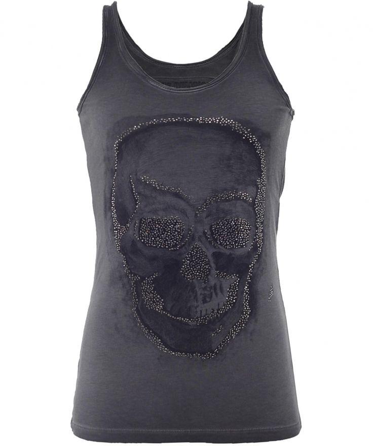 True Religion Skull Vest #style #skull #black