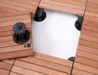 Decking Tiles and Wood Deck tiles to install in apartment balconies and porches to instantly update the look!