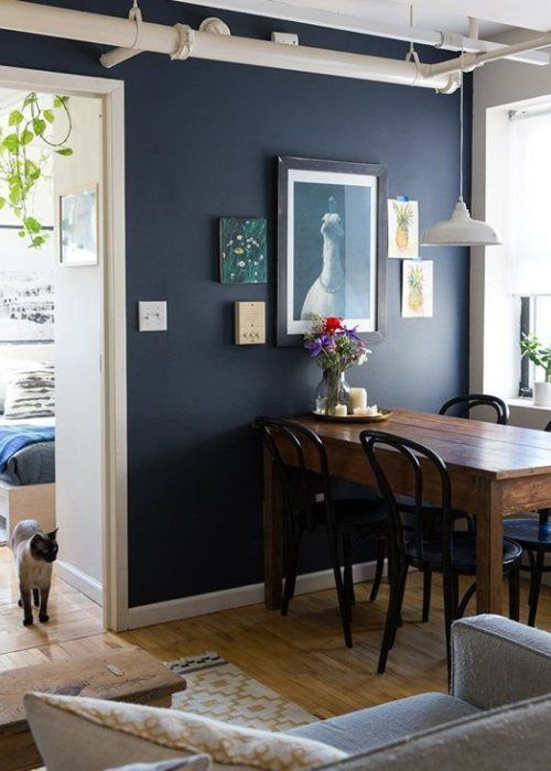 Sherwin Williams Naval A Navy Blue Paint Colour Has A Low