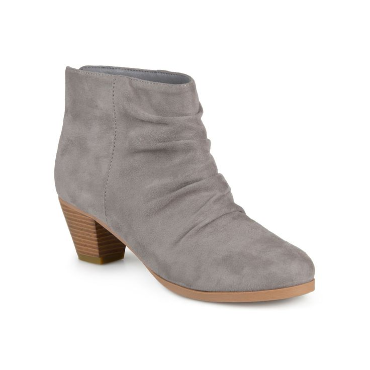 Journee Collection Jemma Women's Slouch Ankle Boots, Teens, Size: 7.5, Grey