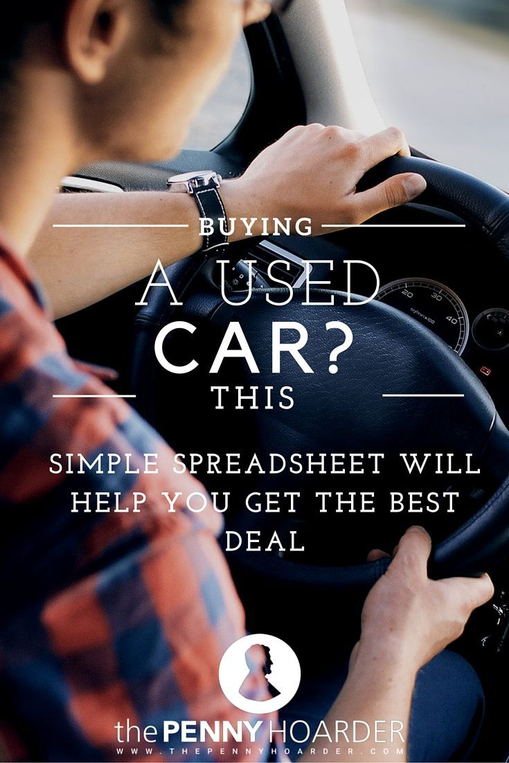 Buying a used car can be tricky. Resources like Kelley Blue Book are helpful, but there's more you can do to save money. Use this free spreadsheet to track prices and identify outliers. - The Penny Hoarder http://www.thepennyhoarder.com/buying-a-used-car-spreadsheet/