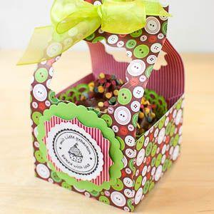 Bastelanleitung f�r offene Cupcake-Box