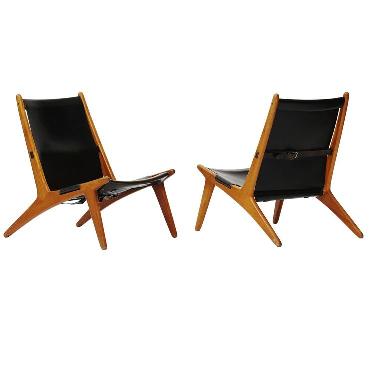"""Pair of """"Hunting Chairs"""" by Uno and Östen Kristiansson for Luxus 