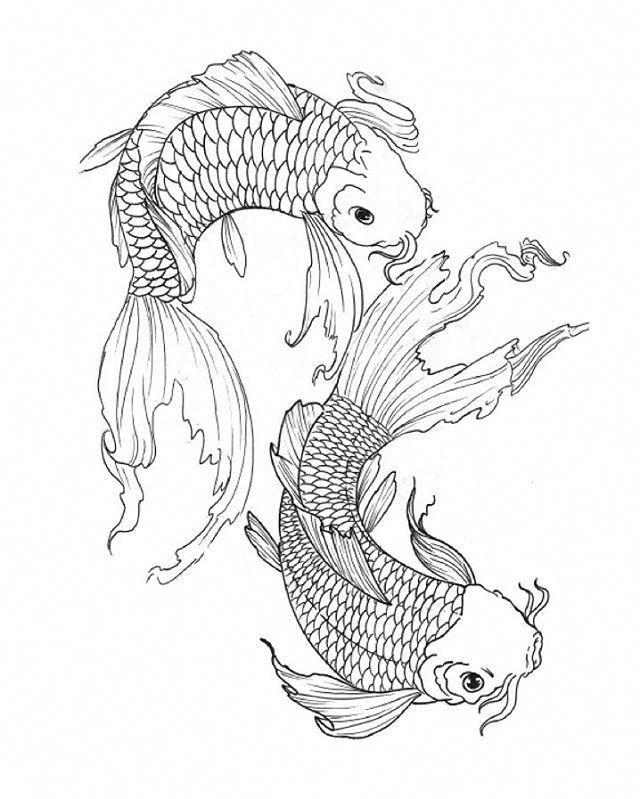 Японские рыбы рисунок