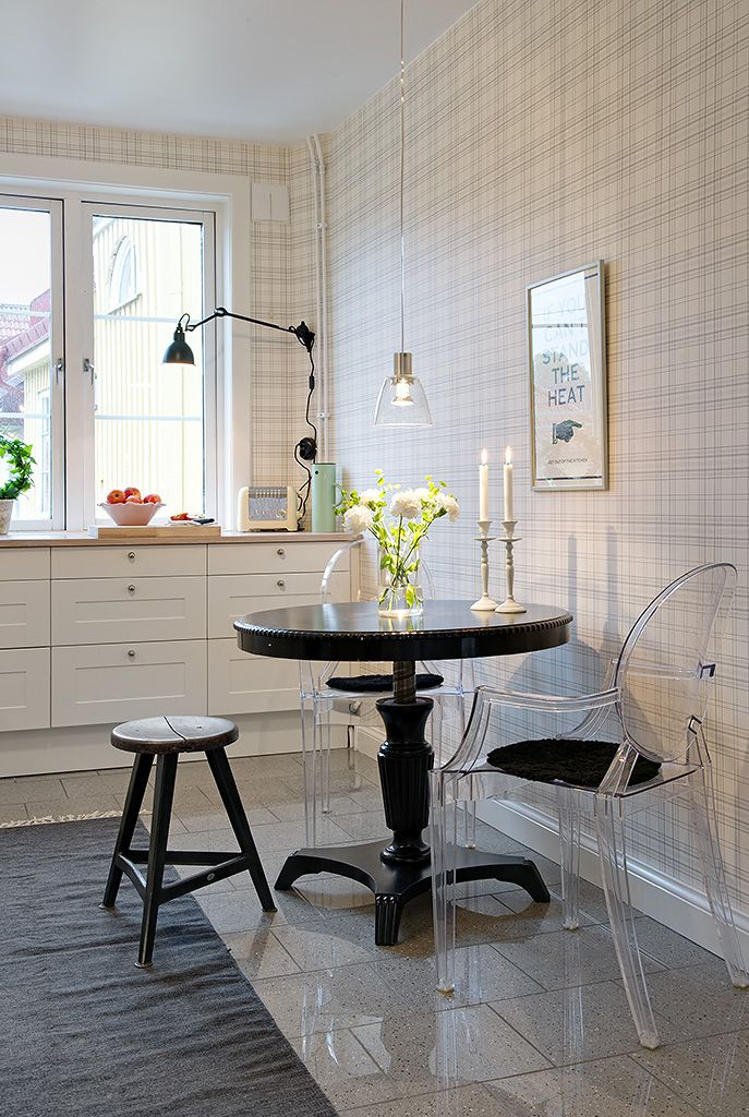 Dining | Residential | Contemporary | Monochrome | Tiles | Ghost | Lighting