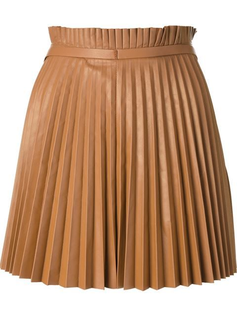 RED VALENTINO pleated leather skirt £740.93