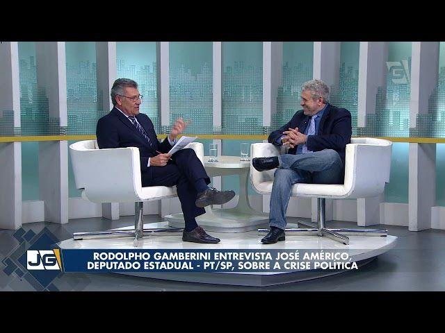 Rodolpho Gamberini entrevista José Américo deputado estadual  PT/SP sobre a crise política