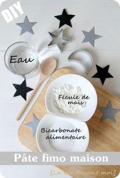 """* DIY: Pâte """"fimo"""" maison blanche pour décos de NOEL !"""