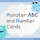 A set of number cards 1-20 and uppercase alphabet letter cards with monsters.   **Added 21-31 and years 2013 and 2014 (if you need it for calendar ...