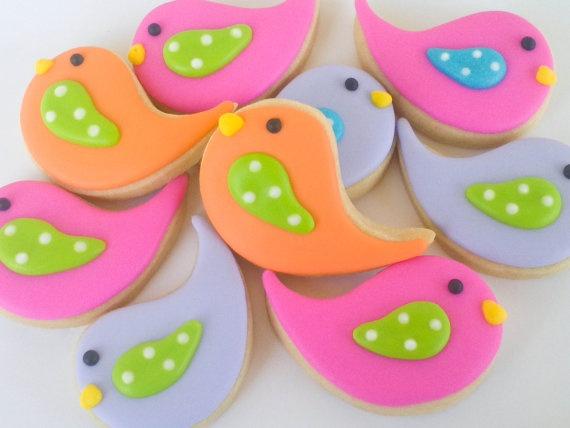 Chick Sugar Cookies 2 dozen by acookiejar on Etsy, $24.95