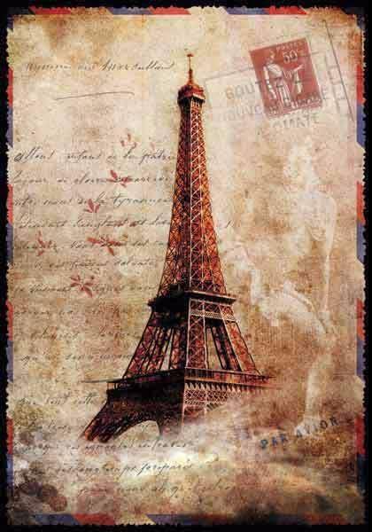 Легкие картинки, париж открытки ретро