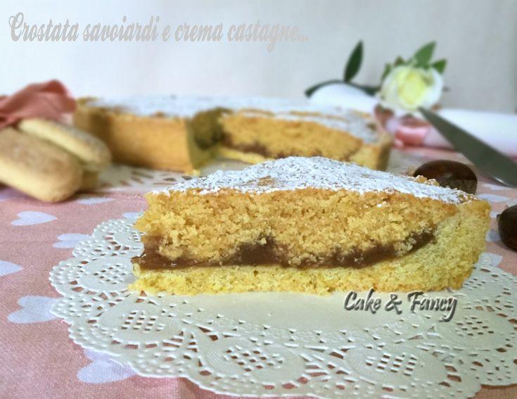 Crostata savoiardi e crema castagne