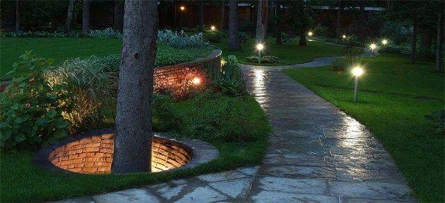 Картинки по запросу расположение светильников при архитектурной подсветке
