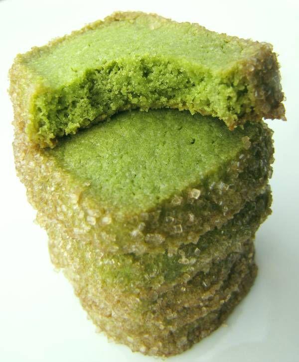 Matcha-Sablés - Grünteekekse - Sandgebäck