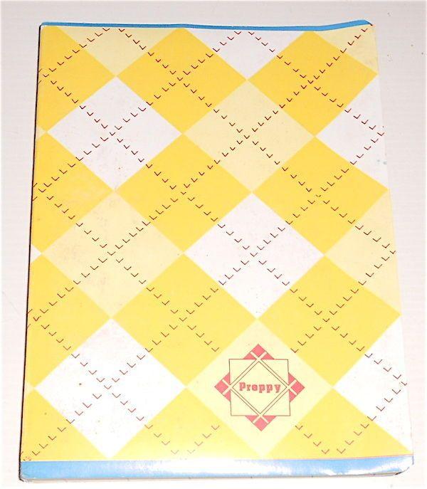 PREPPY 80s italy thick notebook school - quaderno scuola spesso Paninaro 01