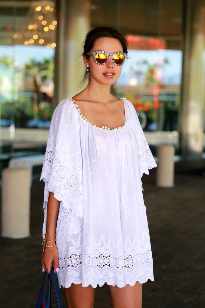 VIVALUXURY - FASHION BLOG BY ANNABELLE FLEUR: EASY BREASY EYELET IN PALM SPRINGS