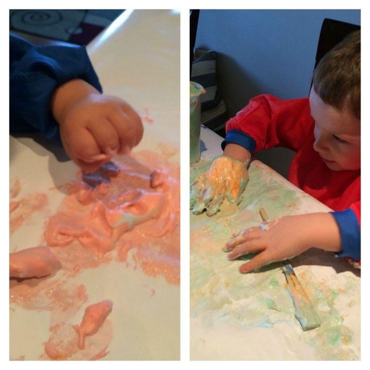 How to make shaving cream puffy paint puffy paint