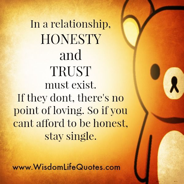 maintaining trust and honesty in a relationship