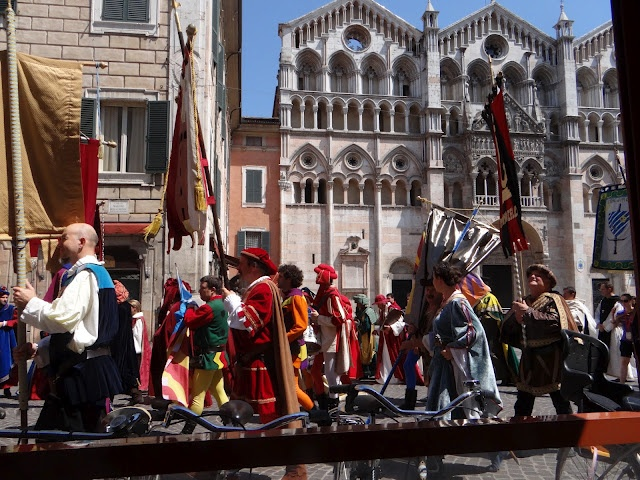 """""""The parade begins"""" - """"Treated like some VIPs at the Palio in Ferrara"""" by @Jess_Dante"""