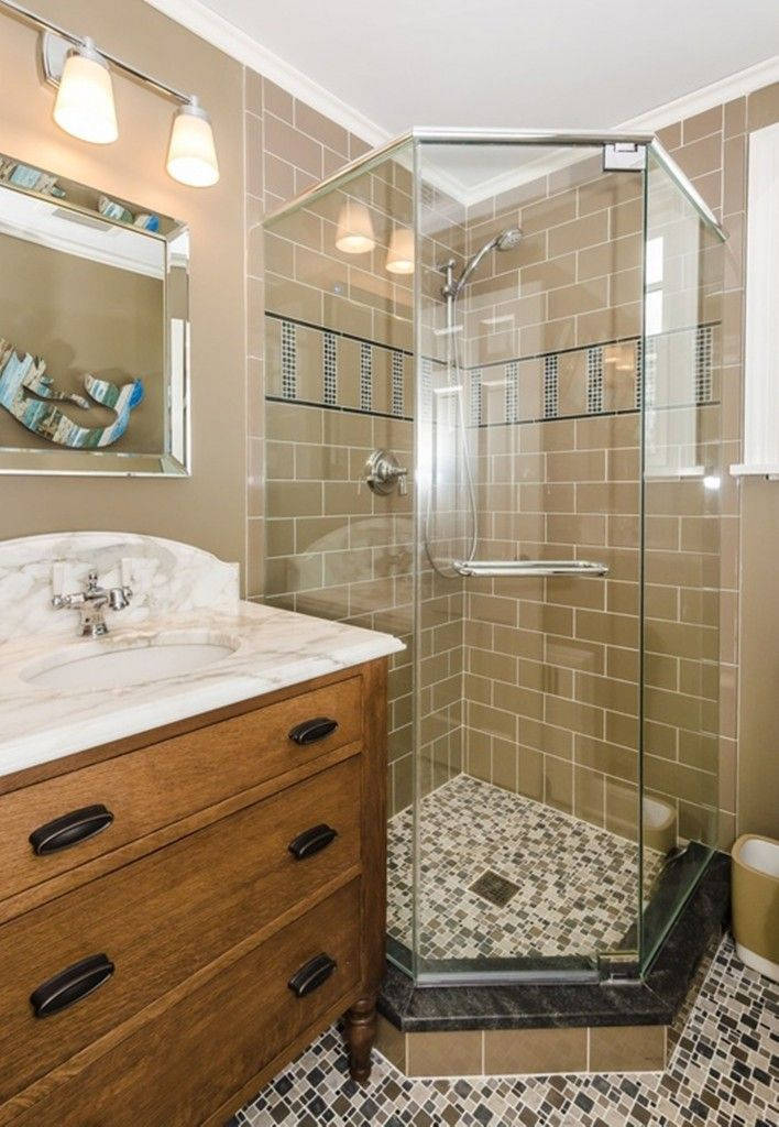 Walk In Shower Stalls For Small Bathrooms Walk In Shower Small Bathroom Pinterest Small