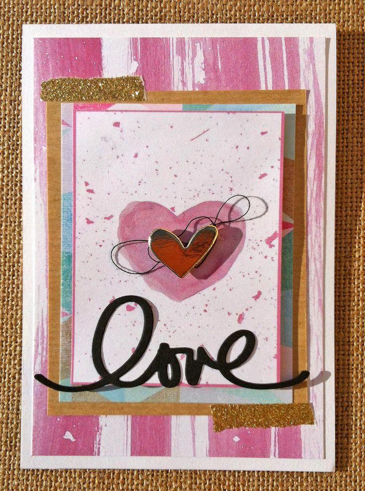 Tarjeta con Paper Romance de MrsDíaz Scrap #scrapbooking #paperromance #madscraproject