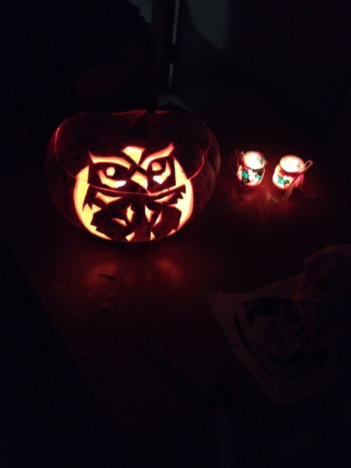 Owl pumpkin carving  On request
