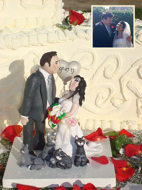 Customized wedding cake topper by Bisajulu
