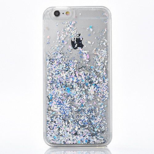 Silver Cascading Glitter Confetti Case for iPhone 7, 7 Plus
