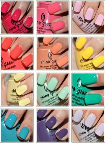 my goal for summer: try each of these colors!