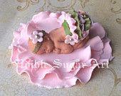 ARBOLADO BABY SHOWER ciervos primero de la torta pasta de azúcar de la torta del bebé del camo camo rosado