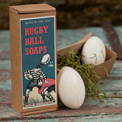 Rugby Ball Soaps