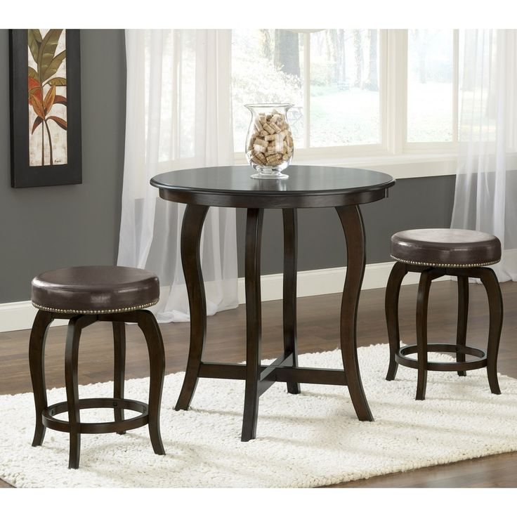 Wilmington Wood Counter Height Pub Table And Stools In Cappuccino