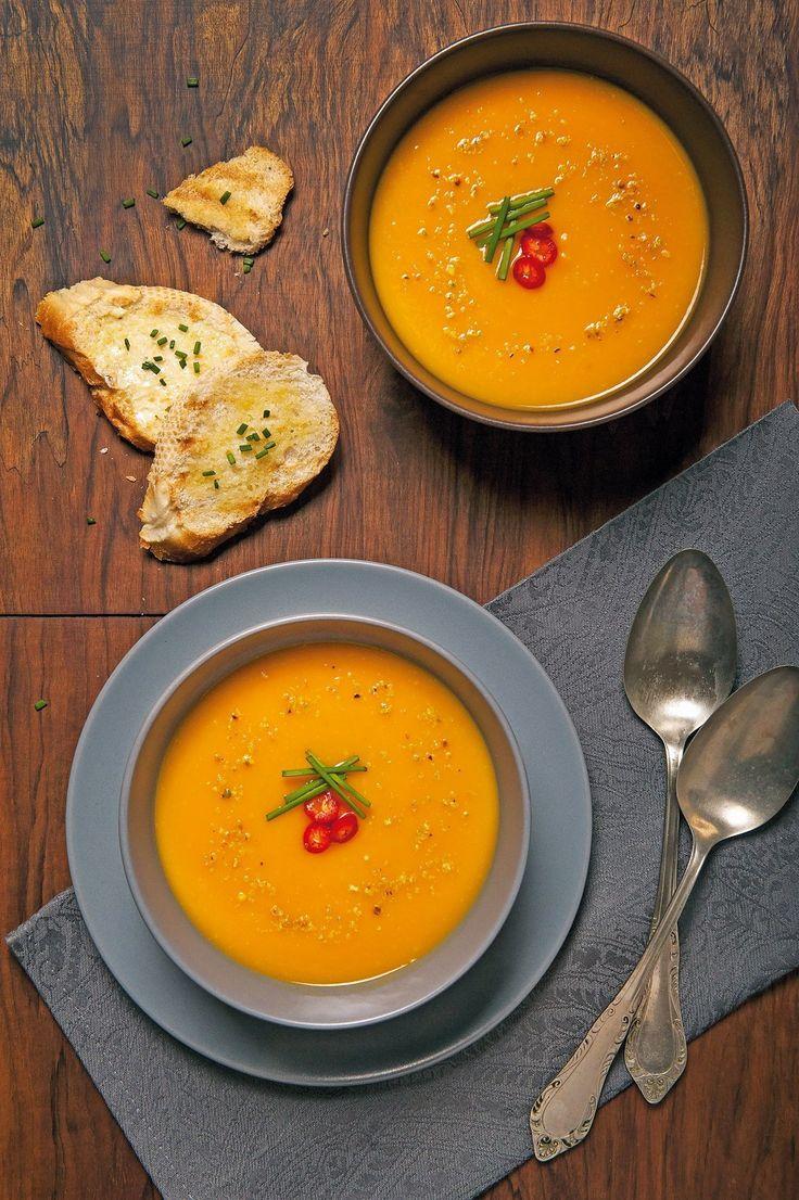 V studených dňoch vás zahraje rýchla batatová polievka so zázvorom.