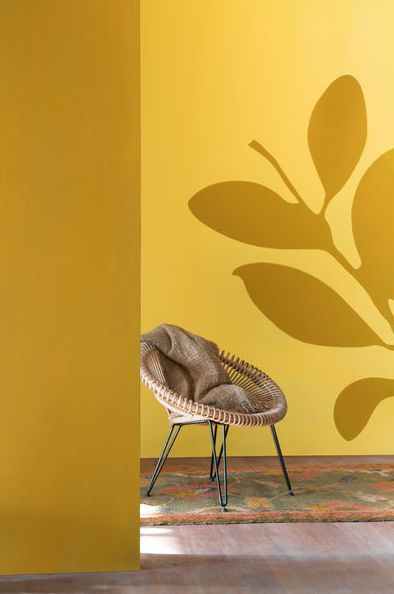 "We love a great corner area in the home.. Choose muted #yellow in Dulux ""Symphony 2"" and ""Sun Dust 2"" to bring a little #sunshine into your #room."