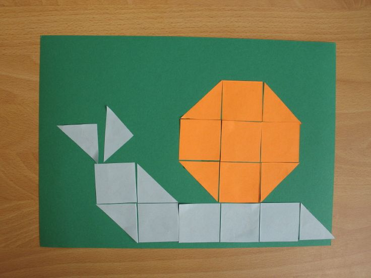 * Slak van 16 vierkantjes, laten uitknippen en opplakken!