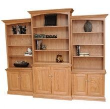 New Wooden Bookcase with Fireplace option Amish Made