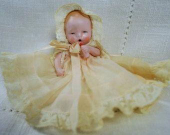"""German Bisque Doll 4"""""""