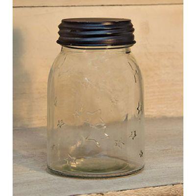 Small Clear Star Mason Jar