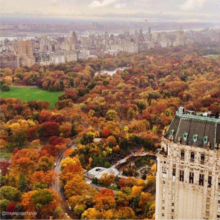 Central Park en Otoño, New York City, USA