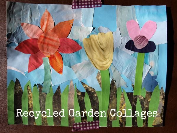 Recycled Garden Collages #weareteachers