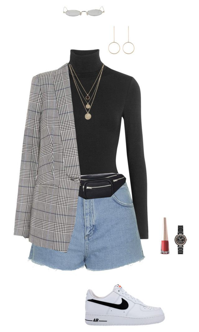 """cool"" by lovelyjulia ❤ liked on Polyvore featuring Gentle Monster, Wolford, Topshop, Alexander Wang, LowLuv, self-portrait, NIKE, Puma and Michael Kors"