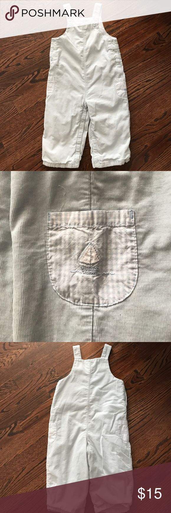 Janie and Jack Layette baby blue overalls EUC adorable light blue overalls. Sad to see them go... they have adjustable straps and cute pockets on sides. Janie and Jack One Pieces