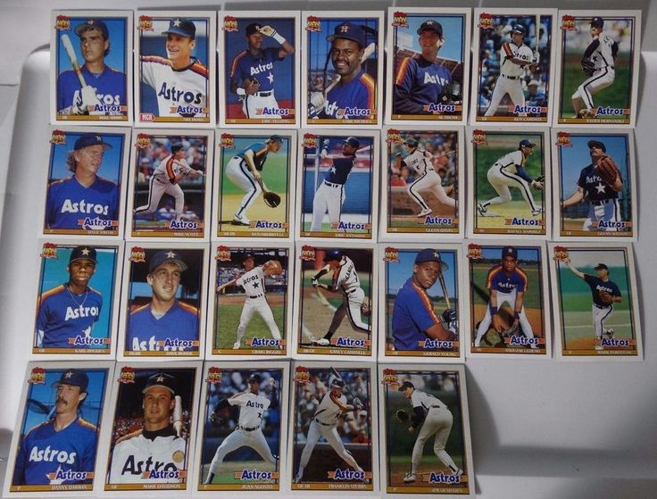 1991 Topps Houston Astros Team Set of 26 Baseball Cards #topps #HoustonAstros
