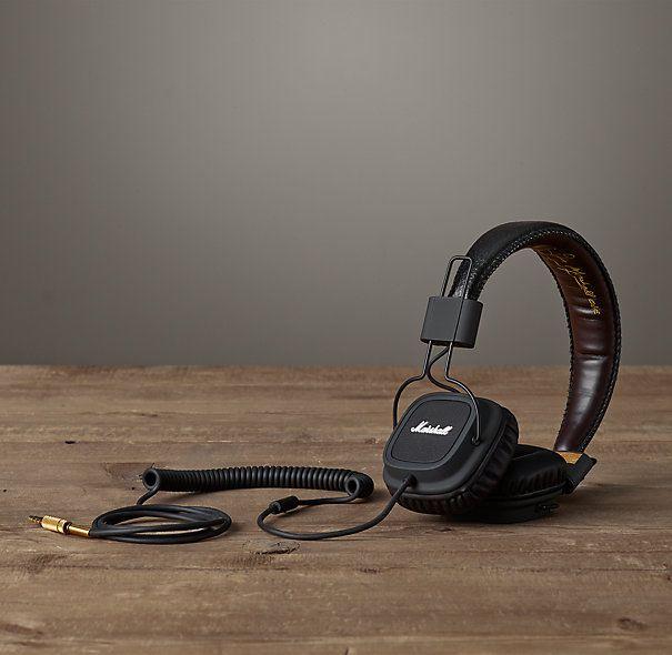 Marshall Headphones - Black #marshall #auriculares #geekup
