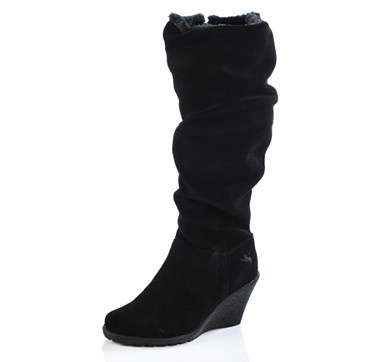 Look amazing in these Ricarda tall wedge boots from Aquatherm by Santana Canada.