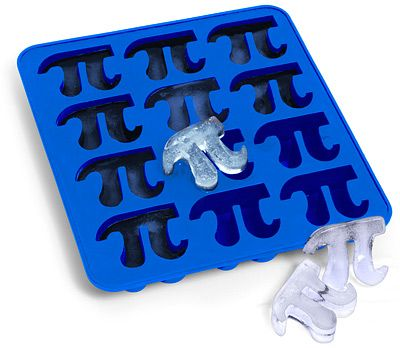 Pi Ice Cube Trays. Great gift idea for a geek, perfect for Pi Day or anytime, really.