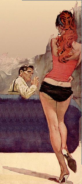 Vintage Pulp Art Illustration | Female-Centric Pulp Art | Sugary.Sweet | #Pulp #Art #Illustration