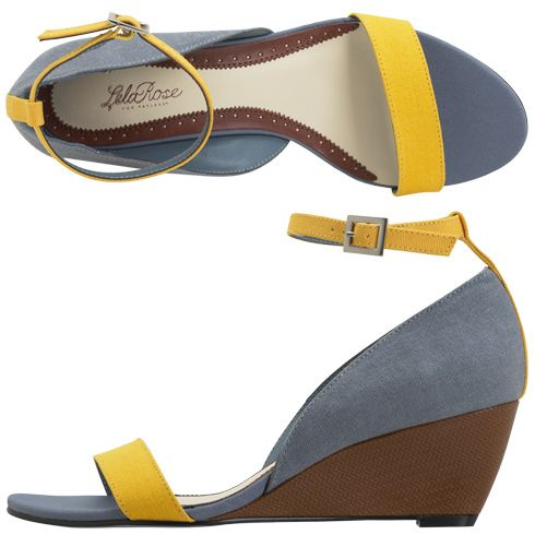These would have been perfect for my Bridesmaids! #grey #marigold $39Block Wedges, Clarendon Wedges, 2Dayslook Wedgesfashion, Lela Rose, Bridesmaid Shoes, Yellow Wedges, Colors Block, Blue Su Shoes, Weights Loss