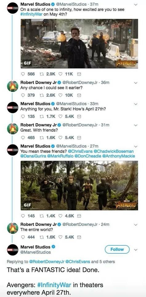 Aah, this is the moment when RDJ managed to get even more adorable and awesome that he is, which I previously thought to be impossible.