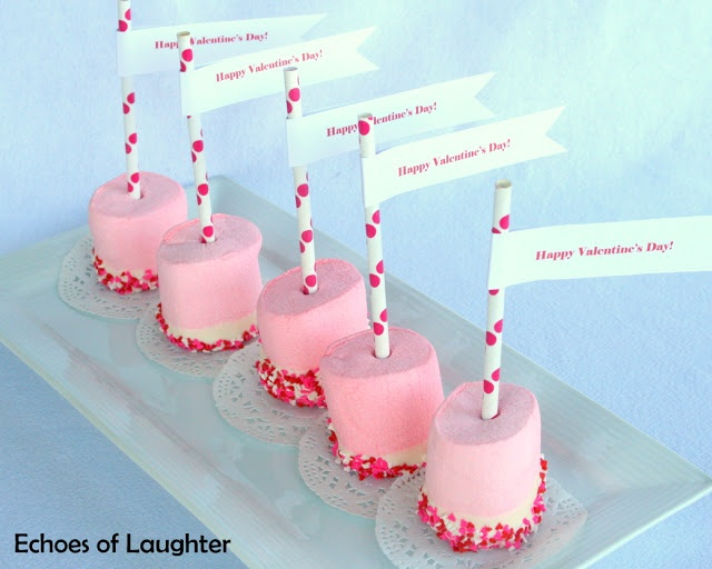 Echoes of Laughter: Valentine's Marshmallow Pops...